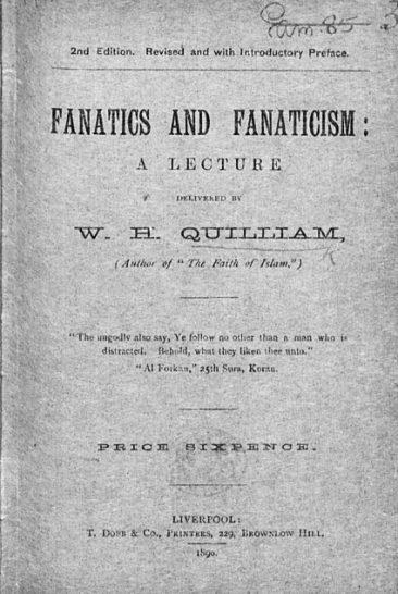Fanatics and Fanaticism - book by Abdullah Quilliam