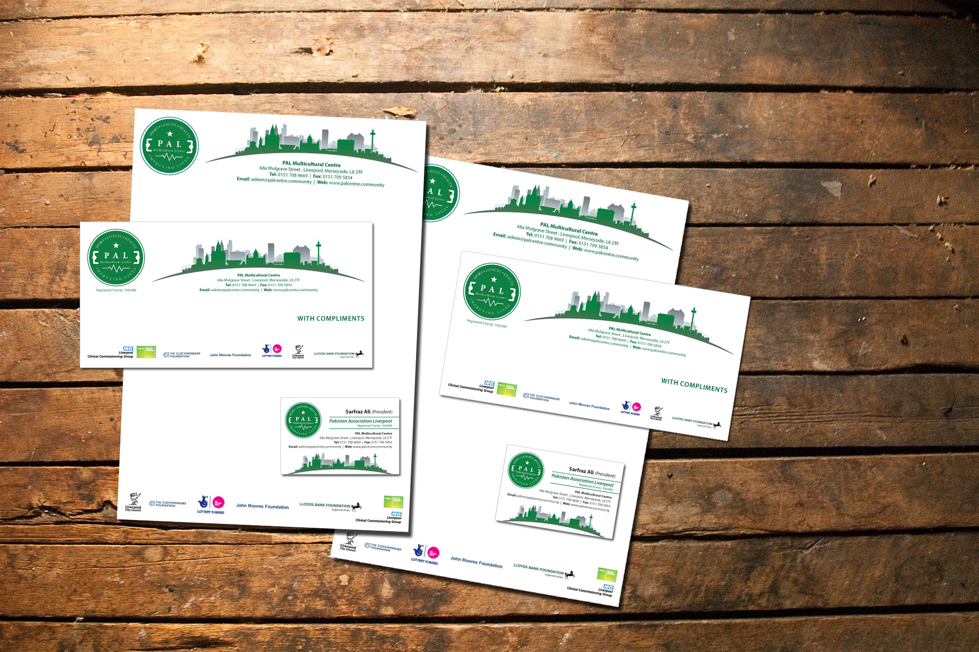 Corporate Stationery for PAL Centre