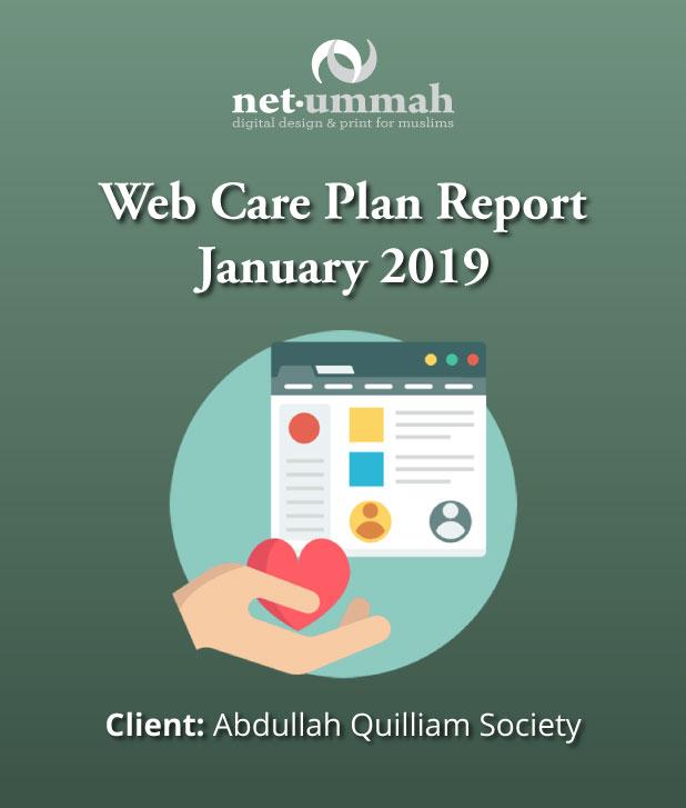 Web Care Plan Report for the Abdullah Quilliam Mosque