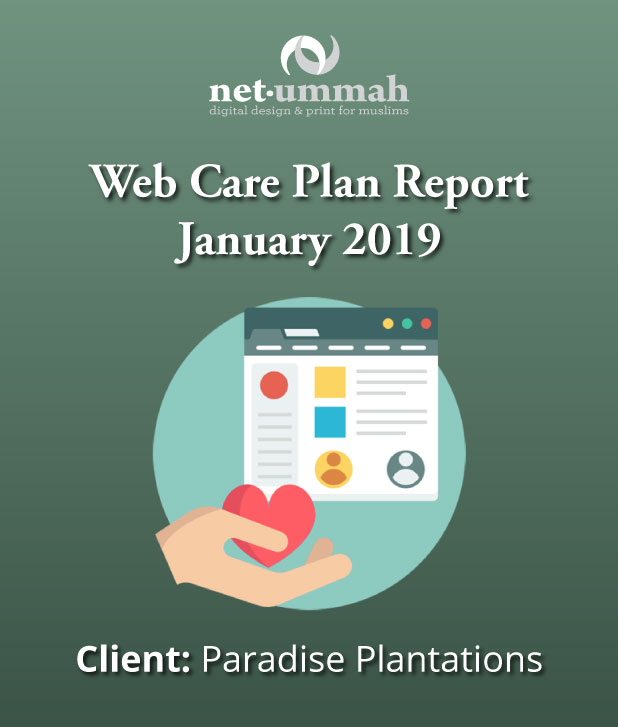Web Care Plan Report for Paradise Plantations